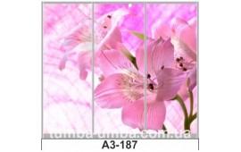 Фотопечать А3-187 для шкафа-купе на три двери. Цветы