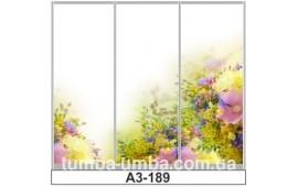Фотопечать А3-189 для шкафа-купе на три двери. Цветы