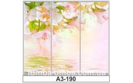 Фотопечать А3-190 для шкафа-купе на три двери. Цветы