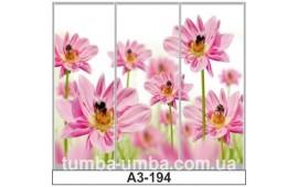 Фотопечать А3-194 для шкафа-купе на три двери. Цветы