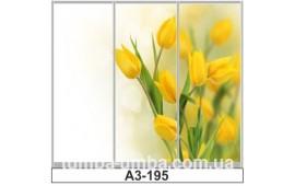 Фотопечать А3-195 для шкафа-купе на три двери. Цветы