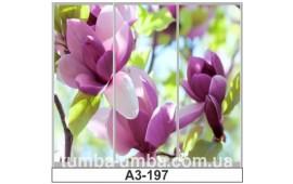 Фотопечать А3-197 для шкафа-купе на три двери. Цветы