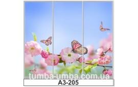 Фотопечать А3-205 для шкафа-купе на три двери. Цветы