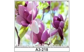 Фотопечать А3-218 для шкафа-купе на три двери. Цветы