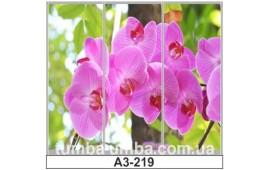 Фотопечать А3-219 для шкафа-купе на три двери. Цветы