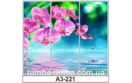 Фотопечать А3-221 для шкафа-купе на три двери. Цветы