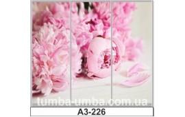Фотопечать А3-226 для шкафа-купе на три двери. Цветы