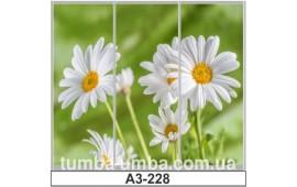 Фотопечать А3-228 для шкафа-купе на три двери. Цветы