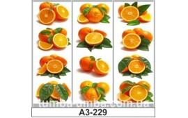 Фотопечать А3-229 для шкафа-купе на три двери. Апельсин