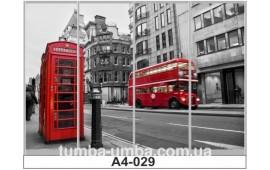 Фотопечать А4-029 для шкафа-купе на четыре двери. Лондон