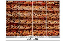 Фотопечать А4-035 для шкафа-купе на четыре двери. Кирпичная стена
