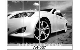 Фотопечать А4-037 для шкафа-купе на четыре двери. Автомобиль