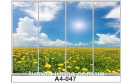 Фотопечать А4-047 для шкафа-купе на четыре двери. Природа