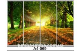 Фотопечать А4-069 для шкафа-купе на четыре двери. Природа