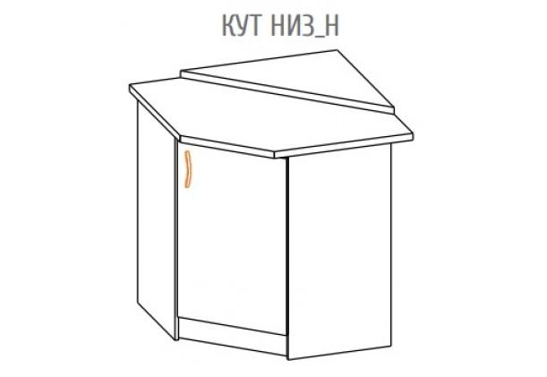 """Фото-схема угловой кухонной тумбы Алина """"Низ"""" Мебель-Сервис дешево от производителя с доставкой по всей Украине"""