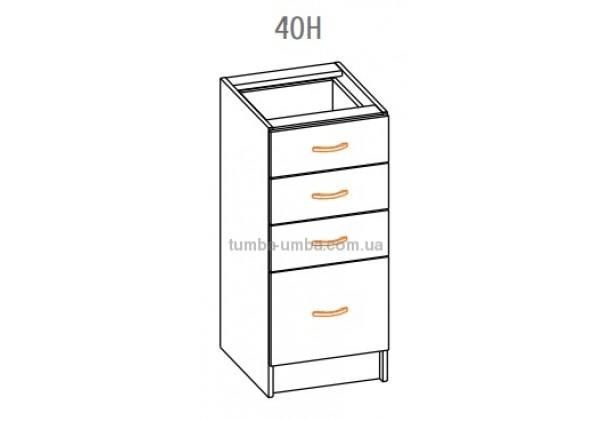 """Фото-схема тумбы Алина """"Низ 40Н"""" Мебель-Сервис дешево от производителя с доставкой по всей Украине"""