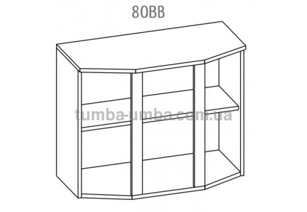 """Фото-схема тумбы-витрины Алина """"Верх 80ВВ"""" Мебель-Сервис дешево от производителя с доставкой по всей Украине"""