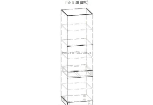 Фото-схема Пенал Грета 3Д 60 см Мебель-Сервис дешево от производителя с доставкой по всей Украине
