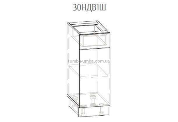 Фото-схема шкаф-стол Грета 30НДВ1Ш 30 см Мебель-Сервис дешево от производителя с доставкой по всей Украине