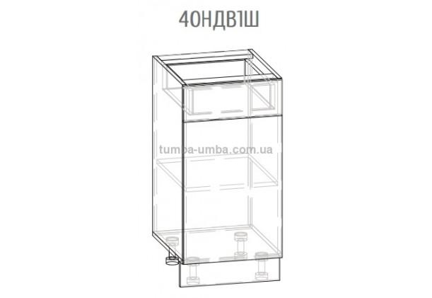 Фото-схема шкаф-стол Грета 40НДВ1Ш Мебель-Сервис дешево от производителя с доставкой по всей Украине