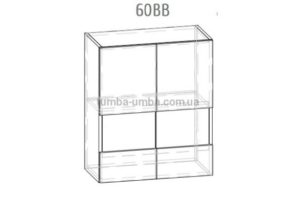 """Фото-схема тумба-витрина Грета """"Верх 60 см"""" Мебель-Сервис дешево от производителя с доставкой по всей Украине"""