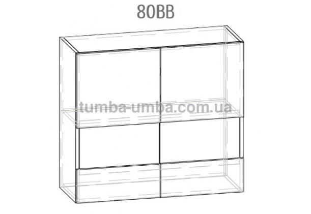 """Фото-схема тумба-витрина Грета """"Верх 80ВВ"""" Мебель-Сервис дешево от производителя с доставкой по всей Украине"""