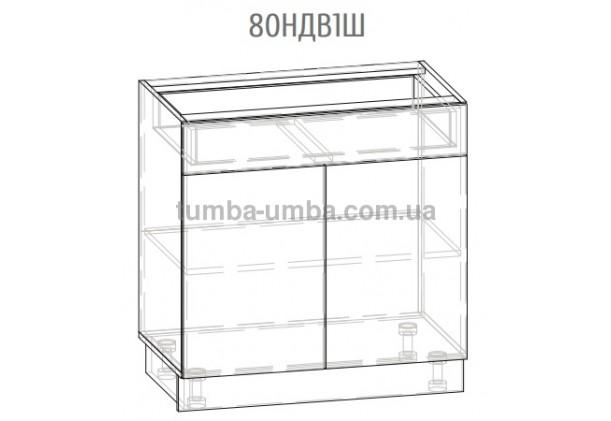 Фото-схема шкаф-стол Грета 80НДВ1Ш Мебель-Сервис дешево от производителя с доставкой по всей Украине