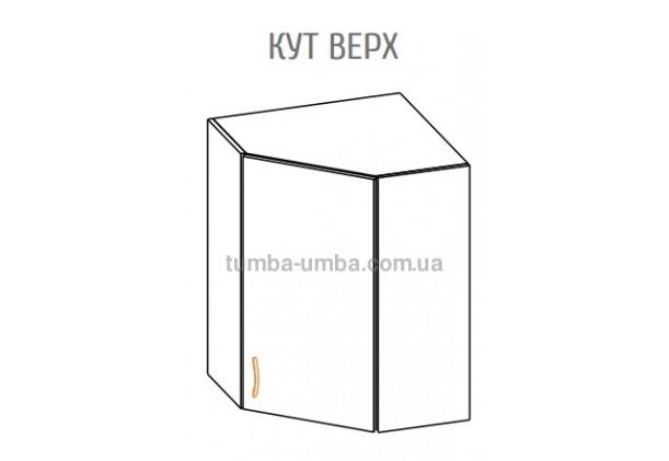 Фото-схема тумбы Оля-МС Угол Верх Мебель-Сервис дешево от производителя с доставкой по всей Украине