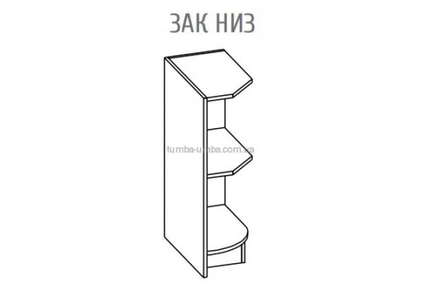 Фото-схема тумбы Оля-МС Окончание Низ Мебель-Сервис дешево от производителя с доставкой по всей Украине