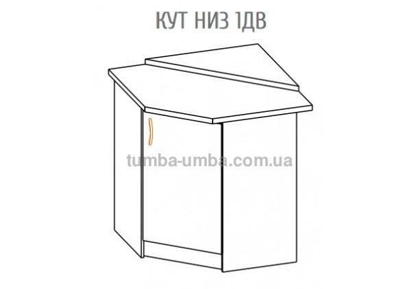 Фото-схема тумбы Оля-МС Угол низ 1Дв Мебель-Сервис дешево от производителя с доставкой по всей Украине