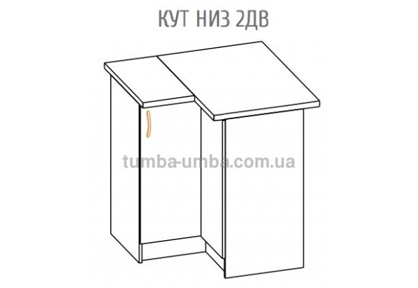 Фото-схема тумбы Оля-МС  Угол низ 2Дв Мебель-Сервис дешево от производителя с доставкой по всей Украине