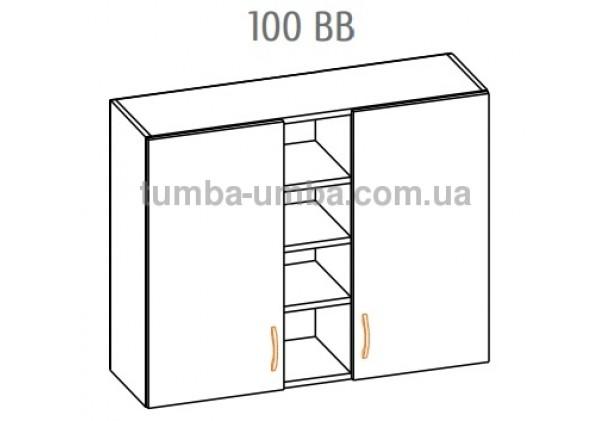 Фото-схема тумбы Оля-МС Верх витрина 100 Мебель-Сервис дешево от производителя с доставкой по всей Украине