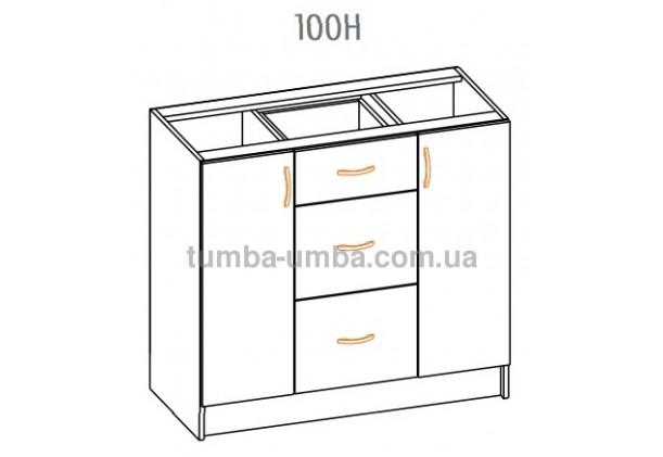 Фото-схема тумбы Оля-МС Низ 100 Мебель-Сервис дешево от производителя с доставкой по всей Украине