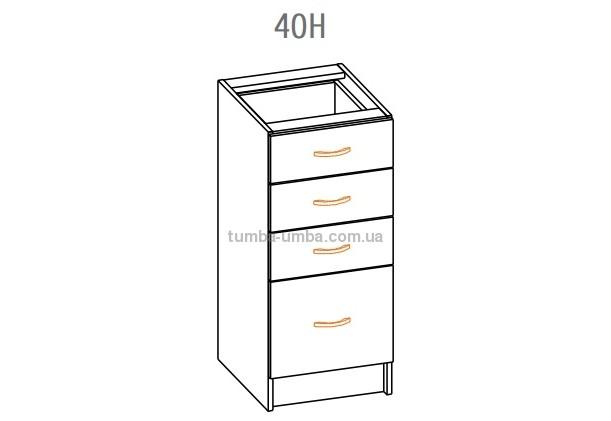 Фото-схема тумбы Оля-МС Низ с ящиком 40 Мебель-Сервис дешево от производителя с доставкой по всей Украине