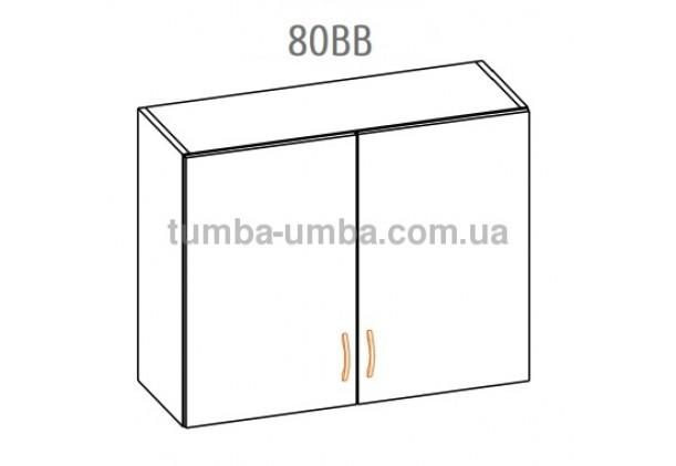 Фото-схема тумбы Оля-МС Верх витрина 80 Мебель-Сервис дешево от производителя с доставкой по всей Украине