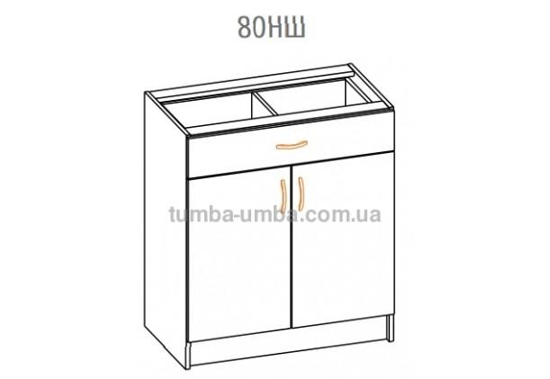 Фото-схема тумбы Оля-МС Низ с ящиком 80 Мебель-Сервис дешево от производителя с доставкой по всей Украине