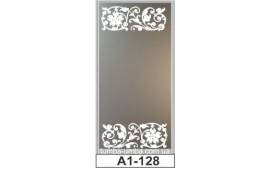 Пескоструйный рисунок А1-128 на одну дверь шкафа-купе. Узор