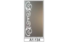 Пескоструйный рисунок А1-134 на одну дверь шкафа-купе. Узор