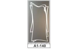 Пескоструйный рисунок А1-140 на одну дверь шкафа-купе. Узор