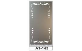 Пескоструйный рисунок А1-143 на одну дверь шкафа-купе. Узор