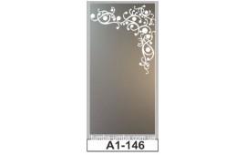 Пескоструйный рисунок А1-146 на одну дверь шкафа-купе. Узор