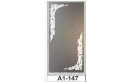 Пескоструйный рисунок А1-147 на одну дверь шкафа-купе. Узор