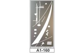 Пескоструйный рисунок А1-160 на одну дверь шкафа-купе. Узор