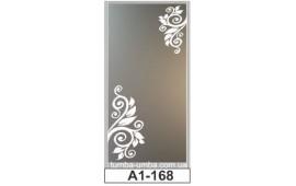 Пескоструйный рисунок А1-168 на одну дверь шкафа-купе. Узор