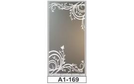 Пескоструйный рисунок А1-169 на одну дверь шкафа-купе. Узор