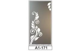 Пескоструйный рисунок А1-171 на одну дверь шкафа-купе. Узор