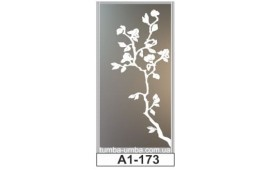 Пескоструйный рисунок А1-173 на одну дверь шкафа-купе. Цветы