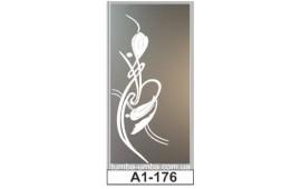 Пескоструйный рисунок А1-176 на одну дверь шкафа-купе. Узор