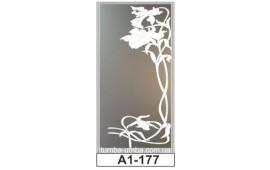 Пескоструйный рисунок А1-177 на одну дверь шкафа-купе. Цветы