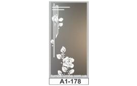 Пескоструйный рисунок А1-178 на одну дверь шкафа-купе. Цветы